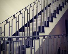 Staircase steel balustrade