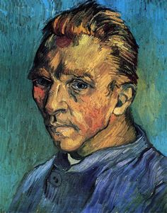 ART & ARTISTS: Vincent van Gogh self-portraits-1889 Self-Portrait oil on canvas 40 x 31 cm Saint-Rémy, September 1889