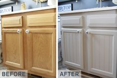 Cottage Cabinet Makeover--added beadboard panels and a fresh coat of paint! #diy #ryobination