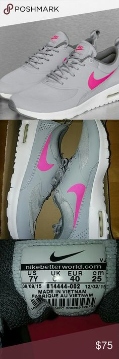 Nike Air Max Thea Authentic Nike Air Max Thea.                                                   ⤵ Use The Offer Button.                                                 *Size 7Y - *Women's 7.5-8.  Box/ no lid. Nike Shoes Athletic Shoes