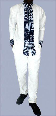 chemise tres chic en lin et tissu pagne africain chemises par kabangondo chemises homme. Black Bedroom Furniture Sets. Home Design Ideas