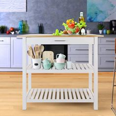 Discover the top-rated farmhouse style kitchen island carts and farmhouse bar carts on wheels. We have a huge selection whether you need a kitchen island on wheels for your farmhouse kitchen or a farmhouse rolling bar cart with a tray on top. Modern Kitchen Cabinets, Kitchen Tops, Rustic Kitchen, Kitchen Furniture, Kitchen Decor, Furniture Ideas, Wooden Kitchen, Bedroom Furniture, Furniture Dolly