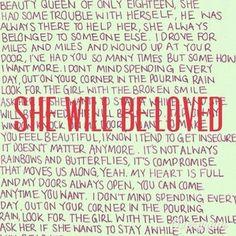 Maroon five she will be loved lyrics