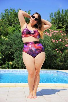 * Princesse Kyonyuu * rockin' her galaxy plus size swimsuit, designed by @gabifresh #curvy #bodyacceptance