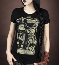 Camiseta Chica MC Victorian Cat