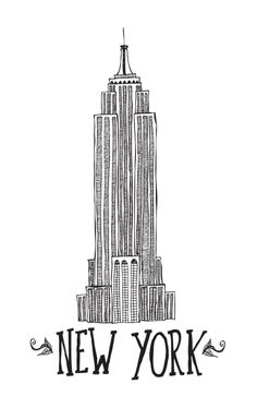New York Art Print, new york city poster, black & white, new york city wall art
