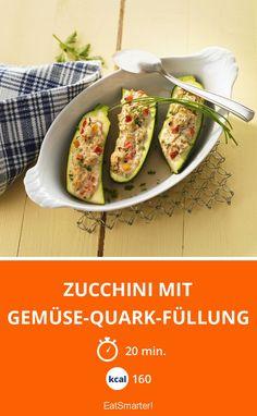 Zucchini mit Gemüse-Quark-Füllung - smarter - Kalorien: 160 kcal - Zeit: 20 Min. | eatsmarter.de