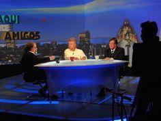 .@carlosalazraki, Raúl Quintanilla y #PepeNewman en  @AquiEAmigosTVA
