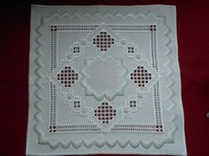 Beautiful Hardanger and Bargello Doily in Crafts, Handcrafted & Finished Pieces, Needle Arts & Crafts | eBay