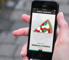 Pizza Compass. Pizza Compass is an iPhone App that helps you pinpoint the nearest pizza place no matter where you go. Pizza. That's it.  $0.99