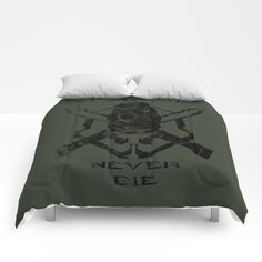 Buy Spartans Never Die | Halo Comforters by philosophotography. Worldwide shipping available at Society6.com. Just one of millions of high quality products available.