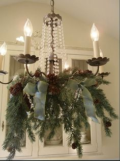 Hanging Christmas Balls Chandelier