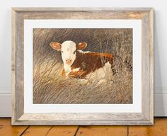 "====================================================== ★ ITEM DETAILS  Title: Hereford Calf Sizing: 15"" x 20"" Type: Four Color Process Print  Four color process printing is a technique that produces a quality reproduction image on fine white paper. Images are generated from high-resolution digital scans and printed with special process inks. The four color printing process provides beautiful color accuracy for reproduction of original art paintings.  Matte or frame is not included but it…"