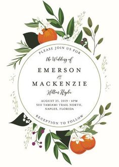 """Orange Blossoms"" - Wedding Invitations in Pearl by Susan Moyal."