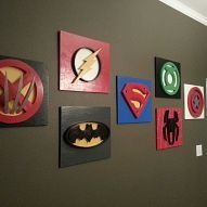 It's not really about organization, but what little boy wouldn't LOVE these signs? 'Superheroes' Playroom Wall Decor