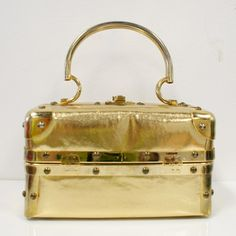 Metallic Box Handbag now featured on Fab.
