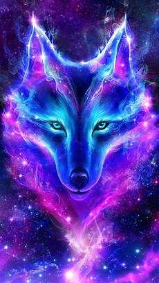 Wolf Neon Live Wallpaper Cool Backgrounds Galaxy Wolf Wolf Spirit Animal Wolf Artwork