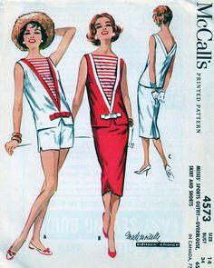 Vintage 1950s McCALL's Pattern 4573   Nautical Sailor