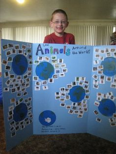 For grade: sharing the planet theme.Love this idea for linking animals with their location. Thanks Julie! Science Lessons, Teaching Science, Science Activities, Life Science, Sistema Solar, Around The World Theme, 1st Grade Science, Experiment, My Father's World