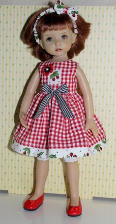 """Gingham Garden Girl Fits 13"""" Effner Little Darling Cherry Delight   eBay"""