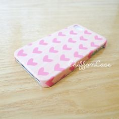 Polka Heart iPhone 5 Case iPhone 5s Case Wood by ChiffonCase, $19.00