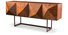 With its sculptural facade and horizontal storage space, this sideboard adds…
