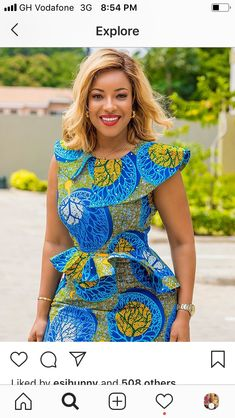 Excited to share this item from my shop: Classy African Midi Dress, Ankara Dress African Print Dresses, African Print Fashion, Africa Fashion, African Fashion Dresses, African Dress, Fashion Prints, African Attire, African Wear, African Women