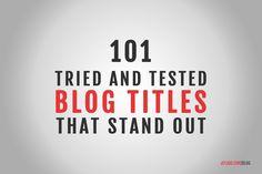 Come far SPICCARE i tuoi blog sul web grazie alla scelta di un titolo che attiri visitatori. #wordpress #joomlaitalia #bloggeritaliani