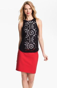 Vince Camuto Laser Cut Top (Petite) available at #Nordstrom