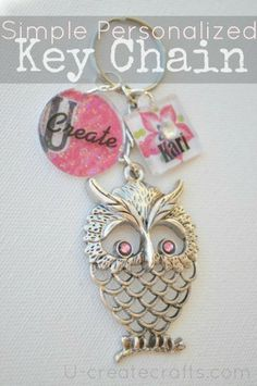 Make a darling personalized keychain tutorial using Mod Podge. #crafts