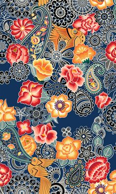 TeaSeeDo... Adriana Barra would love the paisley as part of my arm piece!