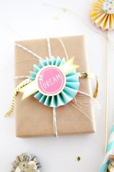 wrapping with brown paper - dear lizzy blog/ amy yingling