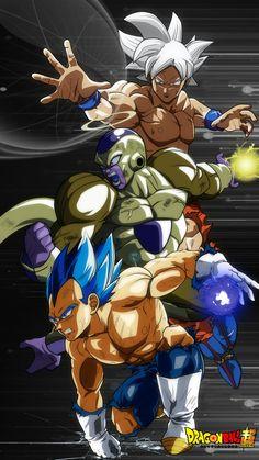 Vegueta Super Saiyajin Blue Evolution, Golden Freezer y Goku Migatte No Gokui Pe . - Vegueta Super Saiyajin Blue Evolution, Golden Freezer y Goku Migatte No Gokui Perfect - # Dragon Ball Z, Dragonball Super, Comic Art, Comic Books, Anime Characters, Cartoon, Marvel, Comics, Deviantart