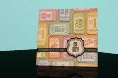 "Card by Samantha Walker using her  ""All Boy"" 6"" X 8"" inch set of 35 clear stamps from @JustRite Papercraft"