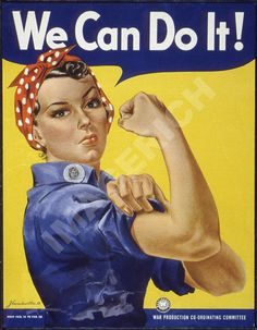 Perhaps the most iconic World War Two poster, Rosie the Riveter is an image that is recognized by people who couldn't tell you which countries were fighting in the war. But who was Rosie the Riveter? Find out in this article by Madeleine Winer. Rosie The Riveter, Poster S, Star Wars Poster, Pin Up, College Dorm Posters, Protest Posters, Ww2 Posters, Library Posters, Retro Posters
