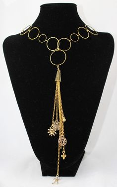 Gold Colored Charm Necklace