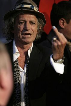 Keith Richards Middle Finger Flipping The Bird ♣️Fosterginger.Pinterest.Com♠️ More Pins Like This One At FOSTERGINGER @ PINTEREST No Pin LimitsFollow Me on Instagram @  FOSTERGINGER75 and ART_TEXAS