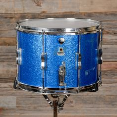 Ludwig 10x14 Marching Snare Drum Blue Sparkle 70s