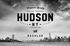 Hudson NY - Regular by Arkitype on @creativemarket