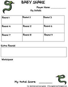 baby snake math game - addition