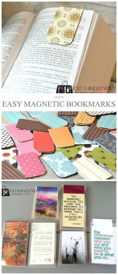 Easy Magnetic Bookmarks Magnetic bookmarks easy paper craft bookmarks easy magnetic bookmarks bookmark scrap paper bookmarks The post Easy Magnetic Bookmarks appeared first on Paper Ideas. Easy Paper Crafts, Scrapbook Paper Crafts, Book Crafts, Crafts To Do, Crafts For Kids, Crafts Cheap, Scrapbooking, Summer Crafts, Paper Crafting