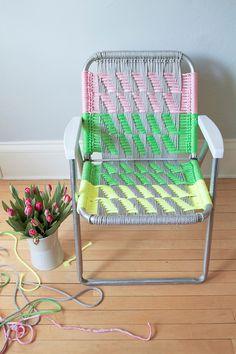 Tutorial DIY silla cuerdas colores macramé