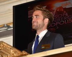 Photos of Robert Pattinson promoting the release of Cosmopolis on August 13 and 14 in NYC.    Credit: Getty Images