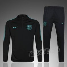 Barcelona 2017 Men Tracksuit Slim Fit Black With Green Item Specifics  Brand  Nike Gender  Men s Adult Model Year  2017 Material  Polyester Type  of Brand ... 4c315b1156b4d