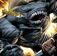 Gi Joe, Comic Book Publishers, Comic Books, King Shark, Marvel Facts, Comic Villains, Deadshot, Dc Comics Art, Comic Styles