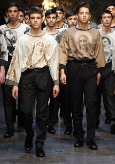 Best fashion show so far. Dolce & Gabbana Sfilata Uomo – AW14 #mfw #fashion #moda #uomo
