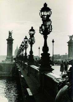 Pont Alexandre III, Paris. 1930s. by Paul Wolff & Alfred Tritschler