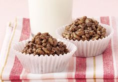 Chocolate Crackles - made with rice bubbles, icing sugar, cocoa powder and copha. Kids just luv 'em and luv to make 'em!!