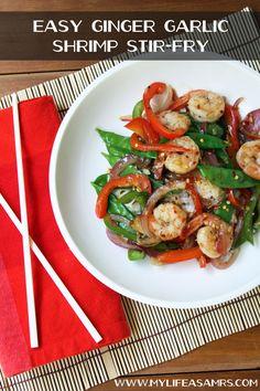 Easy Ginger Garlic Shrimp Stir-Fry
