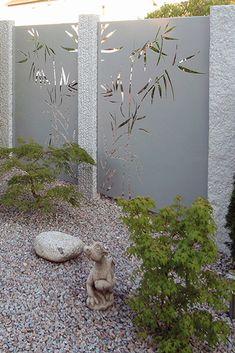 PARAS Sichtschutzwände RAL pulverbeschichtet mit Motiv Schilf Back Gardens, Outdoor Gardens, Lawn Restoration, Intranet Portal, Garden Solutions, Privacy Fences, Backyard Fences, Different Plants, All Plants